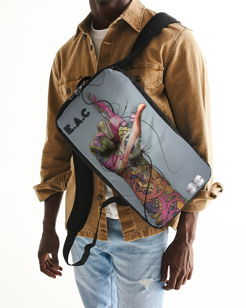 Artsy Backpack with colorful hand