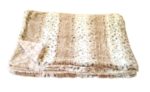 Frosted Sno Leopard Throw