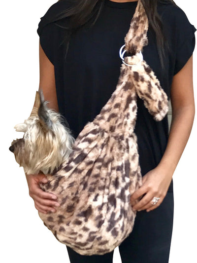 Furbaby Adjustable Sling Bag, King Cheetah