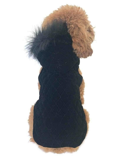 Rodeo Quilted Velvet Dog Coat