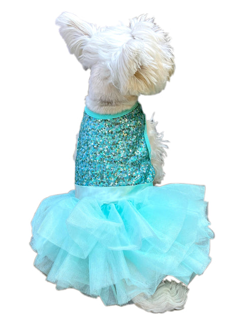 Over the Top Tricolor Sequins Tutu, Seafoam