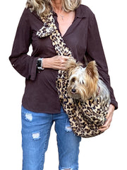 Furbaby Adjustable Sling Bag, Leopard