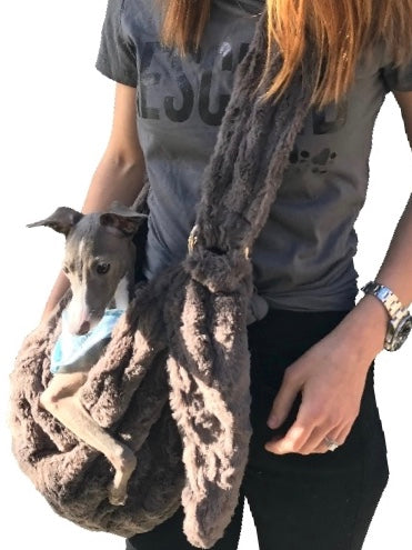 Furbaby Adjustable Sling Bag, Charcoal