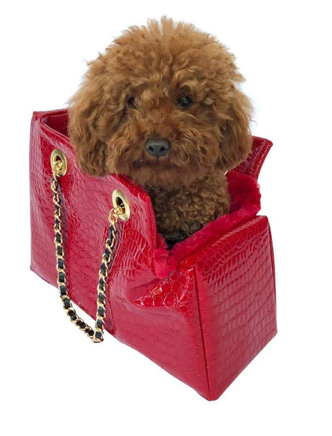 Kate Quilted Carrier, Red Croc