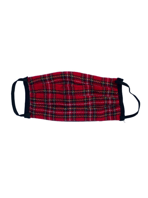 Humans Face mask, Red Tartan Plaid