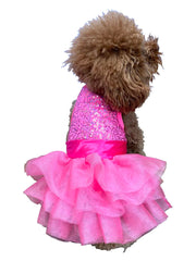 Zsa Zsa Dog Tutu Dress in Hot Pink