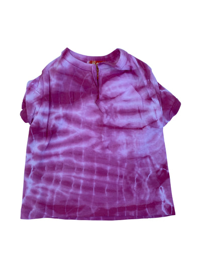 Bamboo Tie Dye Tee, Hot Pink