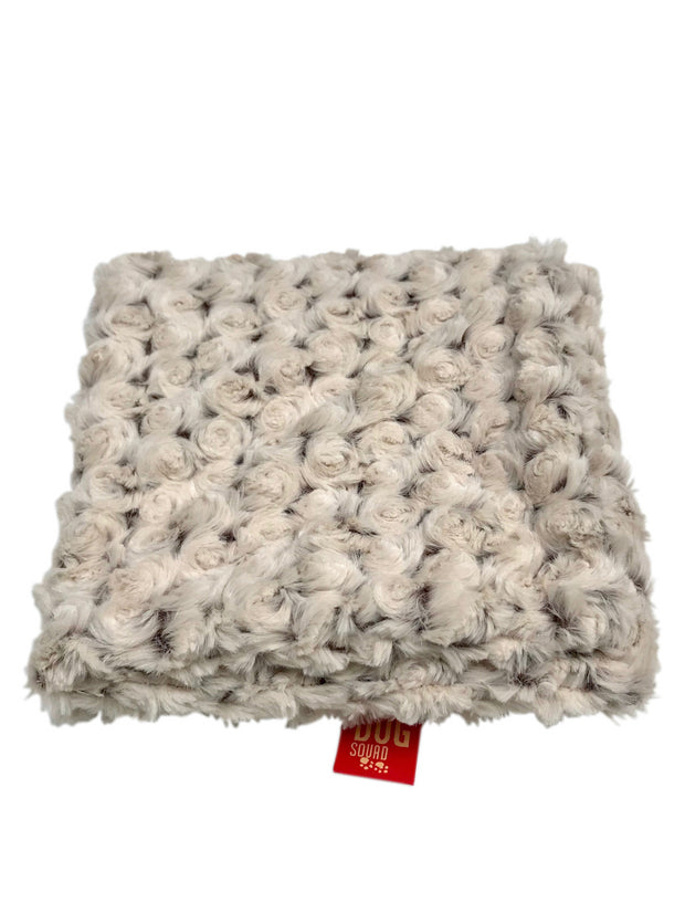 Blanket, Two Tone Rosebud Ivory/Brown