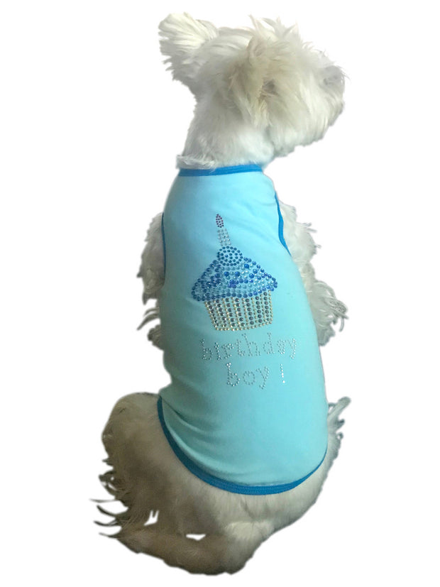 Birthday Cupcake Tank, Blue