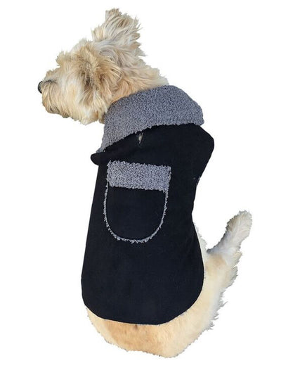 Boho Dog Coat, Black