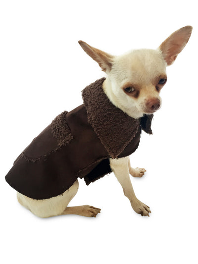 Boho Dog Coat, Chocolate
