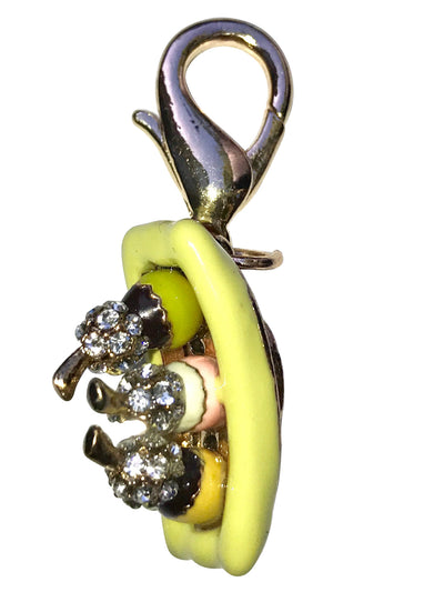 Banana Boat Dog Collar Charm
