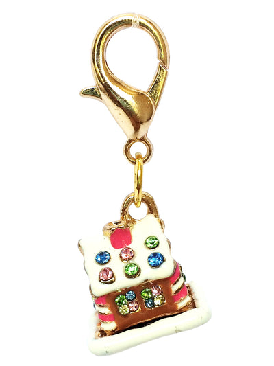 Gingerbread House Dog Collar Charm