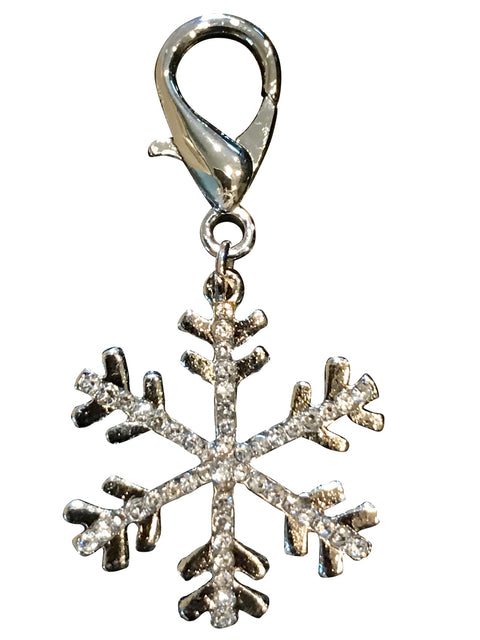 Snowflake Dog Collar Charm