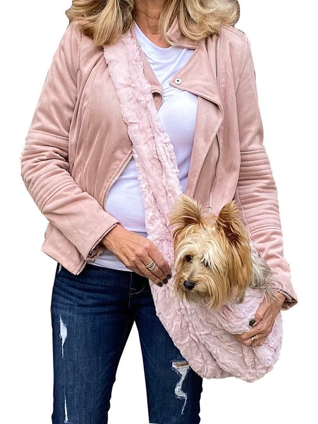 Furbaby Adjustable Sling Bag, Blush