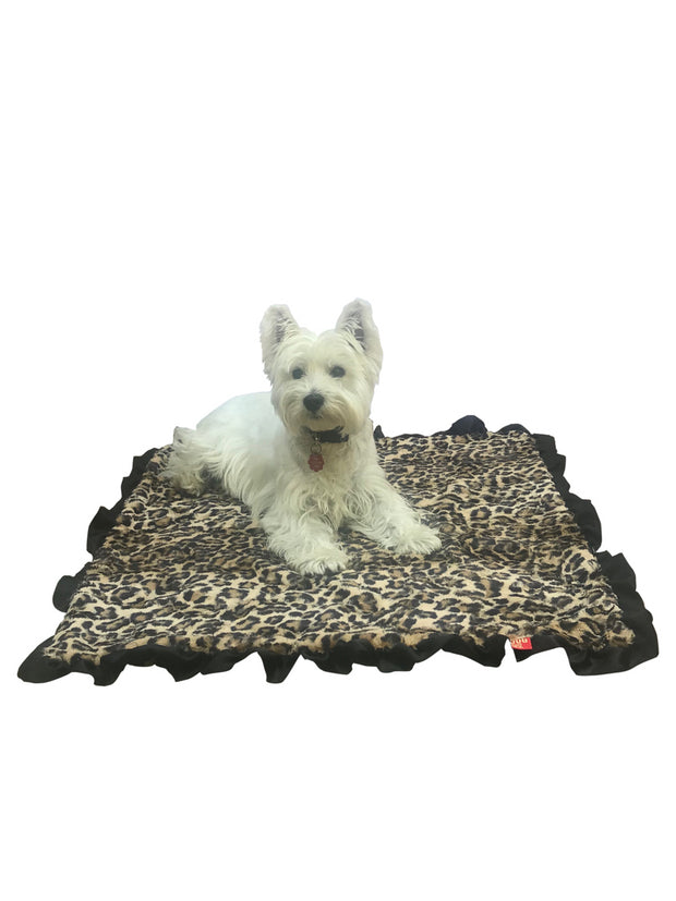 "NEW Furbaby Ruffled Blankets 29""x29"", 4 COLORS!"