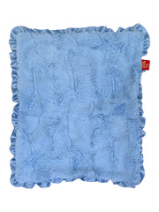 "NEW Carrier Square Ruffled Blanket 14""x17"", Bella Light Blue"