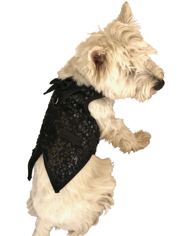 The Gentleman's Doggie Tuxedo, Black Sequins