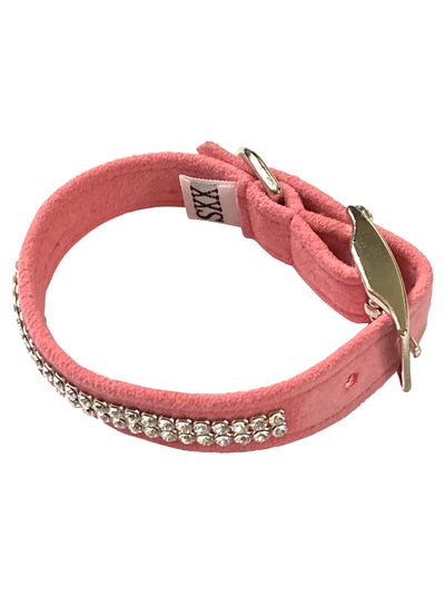 Glamour Girl Swarovski 2 Row Dog Collar, Bubblegum