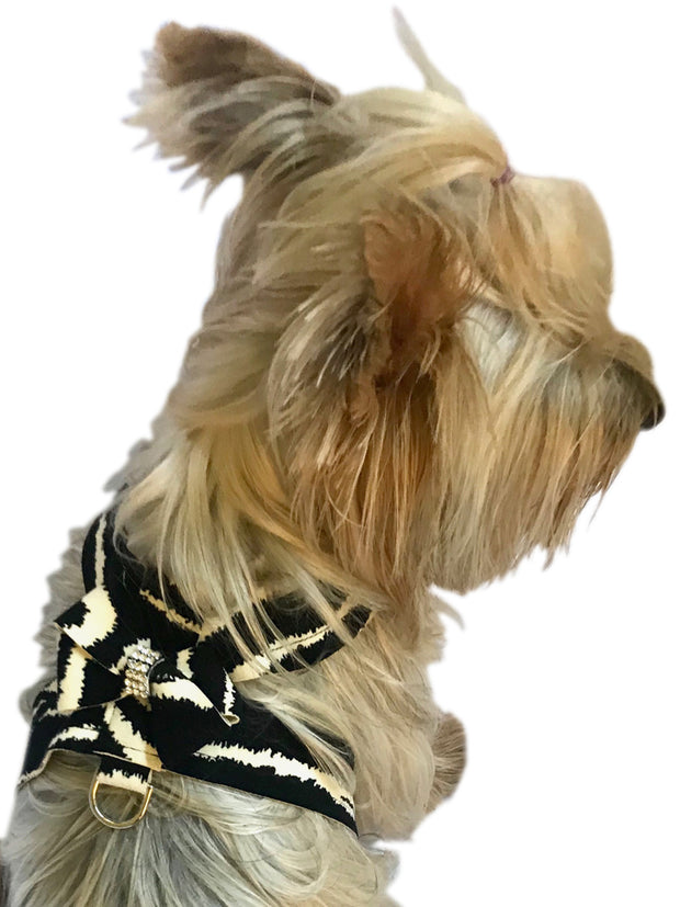 Hollywood Bow Dog Harness, Zebra
