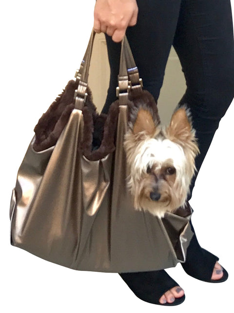Hollywood Dog Tote Carrier, Metallic Snake