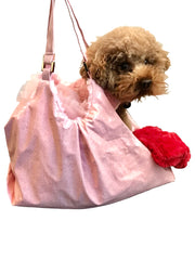 Hollywood Dog Tote Carrier, Pink Snake