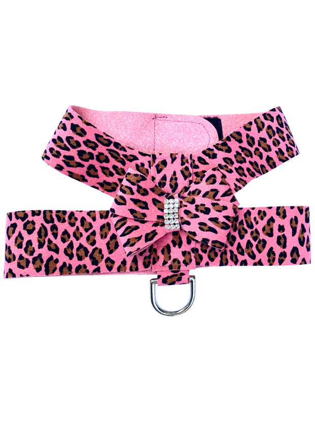 Hollywood Bow Dog Harness, Pink Cheetah