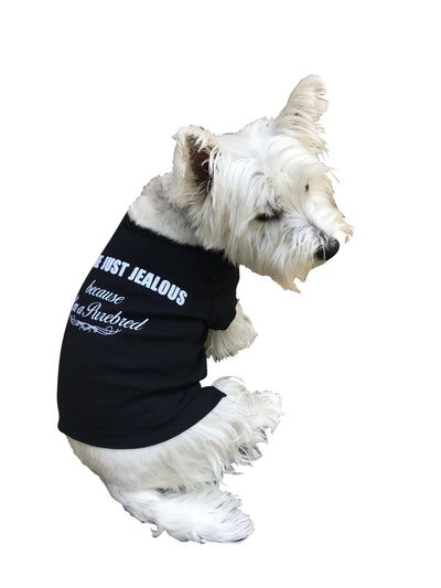 You're Just Jealous I'm a Purebred! Tee, Black