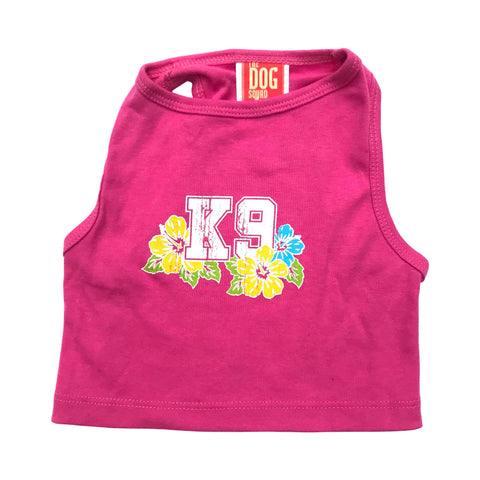 K9 Aloha Tank in Hot Pink