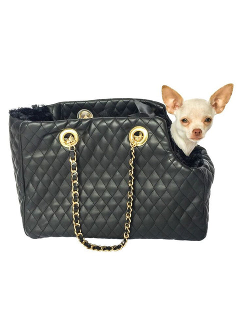 Kate Quilted Carrier, Black
