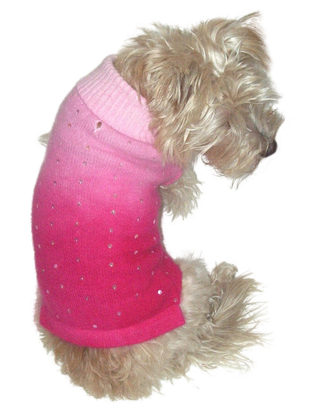 Luxury Sparkle Beverly Hills Turtleneck, Fuchsia