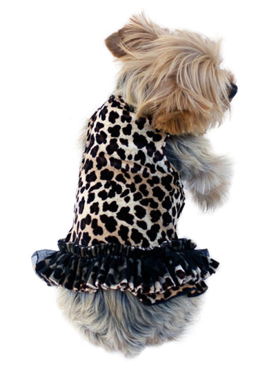 Movie Star Brown Leopard Velvet Tutu