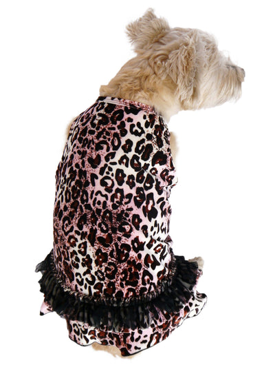Movie Star Pink Leopard Velvet Tutu