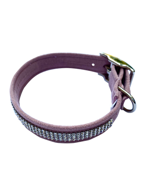 Movie star 3 Row Dog Collar, Rosewood