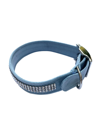 Movie star 3 Row Dog Collar, Horizon Blue
