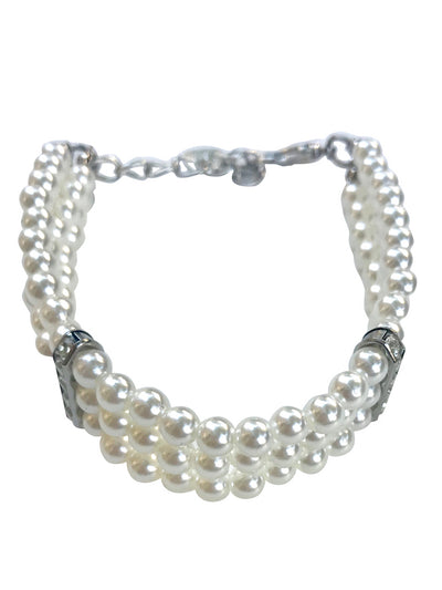 Pretty Pearl Choker Necklace, Ivory