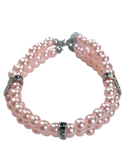 Pretty Pearl Choker Necklace, Pink