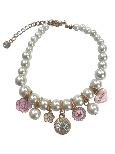 Princess Pearl Charm Necklace