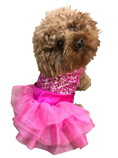 Over the Top Tricolor Sequins Tutu, Hot Pink