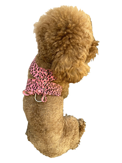 Parisian Corset Harness, Pink Cheetah