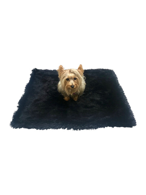 Large Blanket, Powder Puff, Black