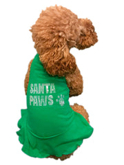Santa Paws Dress, Green