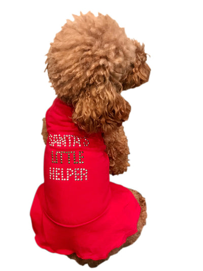 Santa's Little Helper Dress, Red