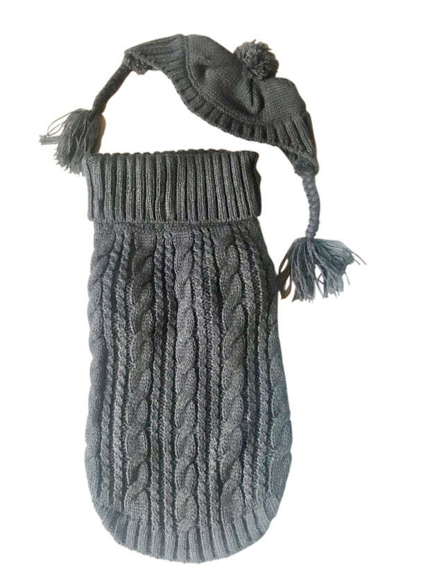 Scottish Cableknit Sweater, Charcoal