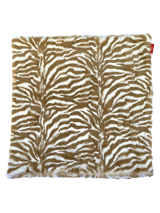Carrier Square Blanket, Zebra Cappuccino