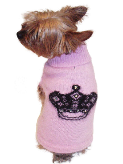 Mimi Tiara Pink Turtleneck with Rhinestones