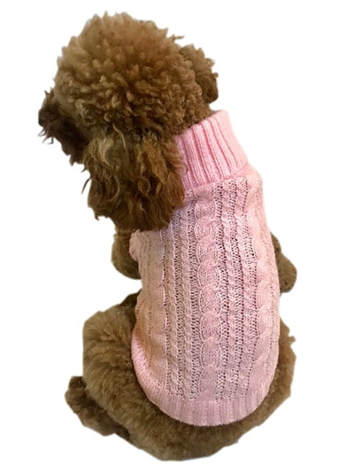 Scottish Cableknit Sweater, Pink