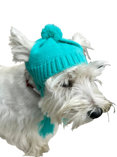 Scottish Cable knit Hat, Light Turquoise