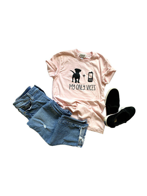Women's 'My Only Vices' Cell Phone T-Shirt