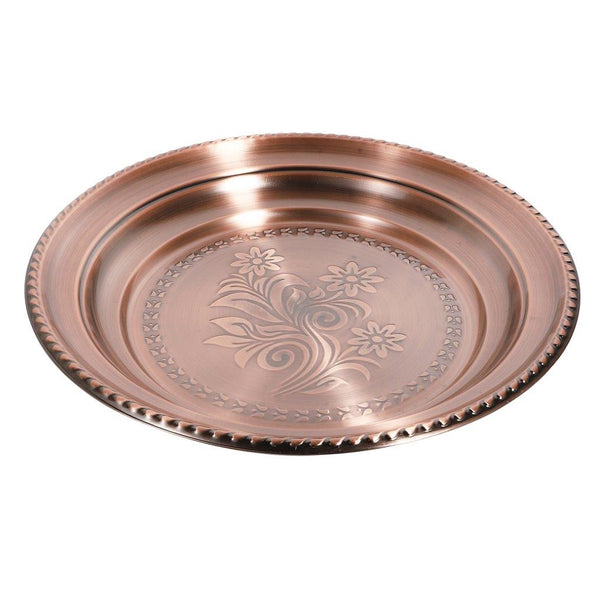 Stainless Steel 48 cm Round Deep Copper Tray